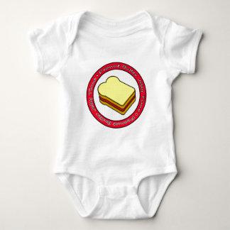 ピーナッツバターのゼリーのタイムのいちごのゼリー ベビーボディスーツ