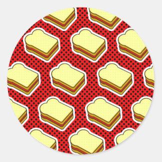 ピーナッツバターのゼリーのタイムのいちごのゼリー ラウンドシール