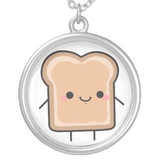 ピーナッツバターのネックレス シルバープレートネックレス
