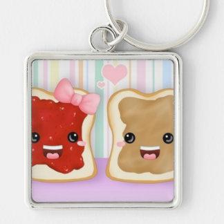 ピーナッツバター及びゼリーのキーホルダー:) キーホルダー