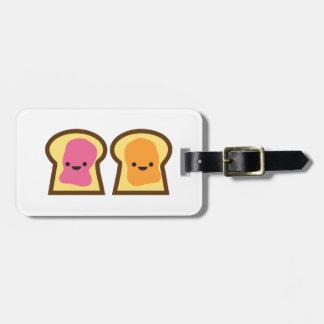 ピーナッツバター及びゼリーのトーストの友人の荷物のラベル ラゲッジタグ