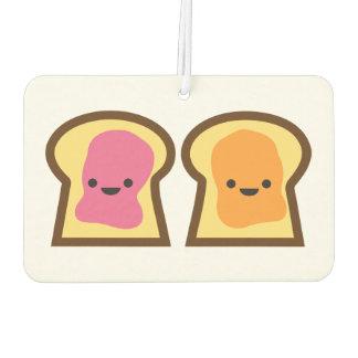 ピーナッツバター及びゼリーのトースト車の芳香剤 カーエアーフレッシュナー