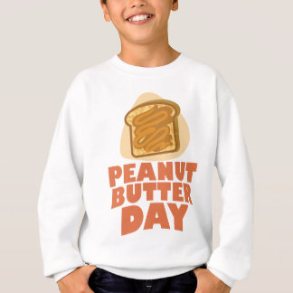 ピーナッツバター日-感謝日 スウェットシャツ
