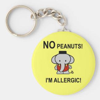ピーナツにアレルギー キーホルダー