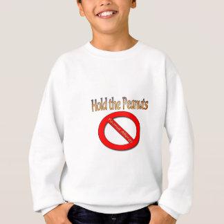 ピーナツピーナツアレルギーのデザインを保持して下さい スウェットシャツ