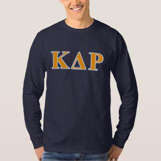 ファイのΚのΘのオレンジおよび青の手紙 Tシャツ