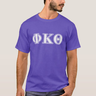 ファイのΚのΘの白いおよび紫色の手紙 Tシャツ