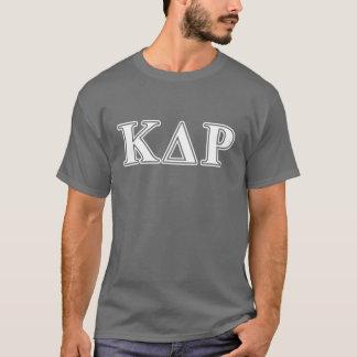 ファイのΚのΘの白くおよび青の手紙 Tシャツ