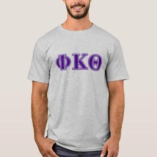 ファイのΚのΘの紫色の手紙 Tシャツ