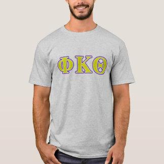 ファイのΚのΘの黄色および紫色の手紙 Tシャツ