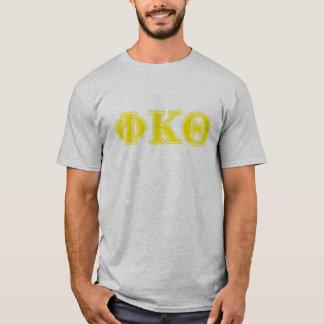 ファイのΚのΘの黄色の手紙 Tシャツ