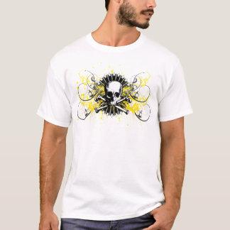 ファイのΚシグマ1850年のスカルの星の色彩の鮮やかなグラフィックT Tシャツ