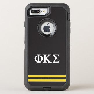 ファイのΚシグマ|スポーツのストライプ オッターボックスディフェンダーiPhone 8 PLUS/7 PLUSケース