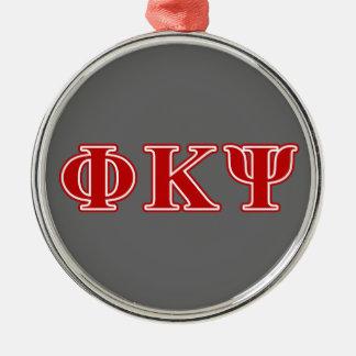 ファイのΚ Psiの赤の手紙 メタルオーナメント