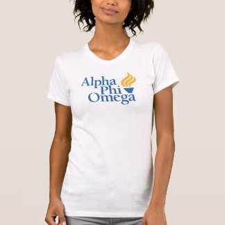 ファイのオメガアルファ色-トーチ Tシャツ