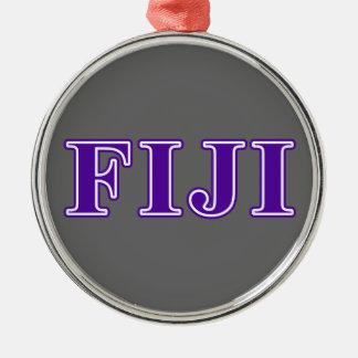 ファイのガンマのデルタの紫色の手紙 メタルオーナメント