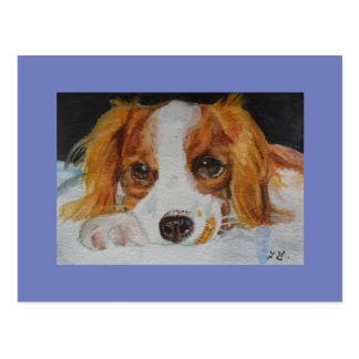 ファインアートのかわいい子犬の郵便はがき はがき