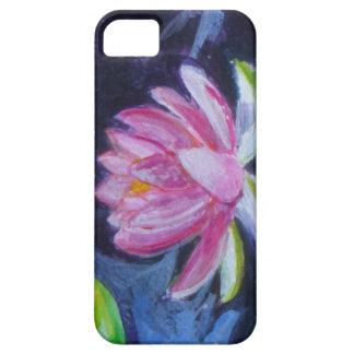 ファインアートのピンクのはすの花の携帯電話の箱 iPhone SE/5/5s ケース