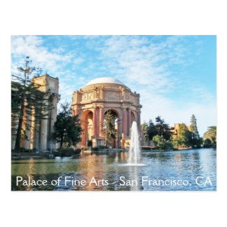 ファインアートの宮殿-サンフランシスコ 葉書き