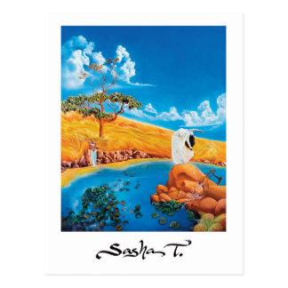 ファインアートの絵画の郵便はがき ポストカード