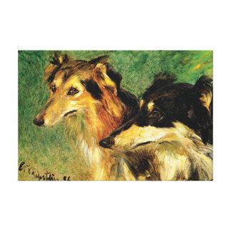 ファインアートの~ 2のBrozoi犬 キャンバスプリント