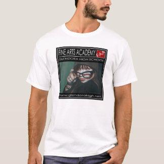 """ファインアートアカデミーのロゴのワイシャツ- """"ガラスを持つ女の子"""" Tシャツ"""
