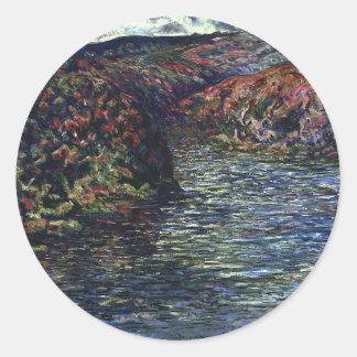 ファインアートカード印象主義の景色 ラウンドシール