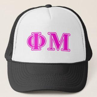 ファイMuのピンクか紫色の手紙 キャップ