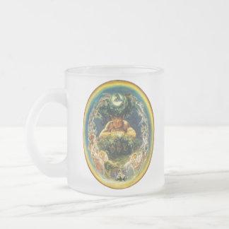 ファウヌスおよび妖精のマグ フロストグラスマグカップ
