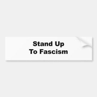ファシズムに立ち向かって下さい バンパーステッカー