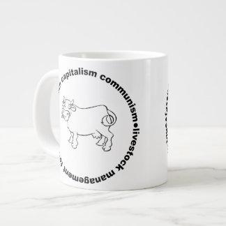 ファシズムの資本主義の共産主義の家畜管理 ジャンボコーヒーマグカップ