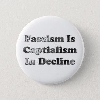 ファシズムは低下の資本主義です 5.7CM 丸型バッジ