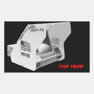 ファシズムを投票して下さい 長方形シール