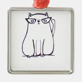 ファッショニスタ猫 メタルオーナメント