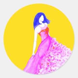 ファッションのイラストレーション-本来の性格 ラウンドシール