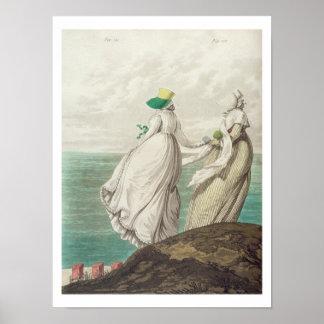 「ファッションのギャラリー」からの場所を、浸します、1797年(co ポスター