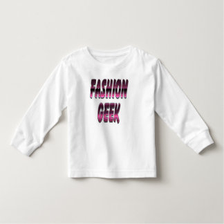 ファッションのギークの紫色 トドラーTシャツ