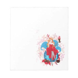 ファッションのクリスマスのスタイリッシュで赤い灰色のイラストレーション ノートパッド
