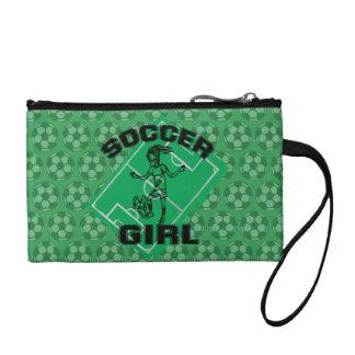ファッションのサッカーの女の子のフットボールのデザイン コインパース