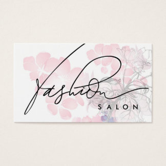 ファッションのサロンデザイナー美しいの芳香カード 名刺