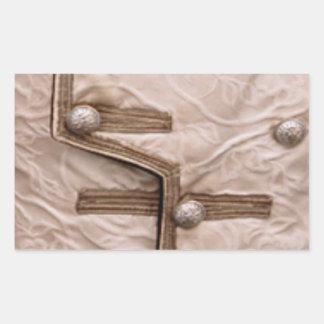 ファッションのストリップパレード-ボタンn Embroidary 長方形シール