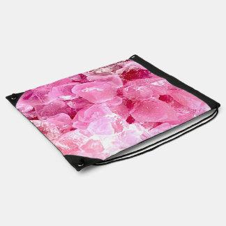 ファッションのピンクの宝石用原石 ナップサック