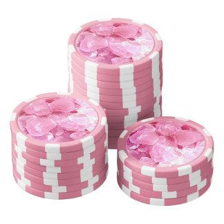ファッションのピンクの宝石用原石 ポーカーチップ
