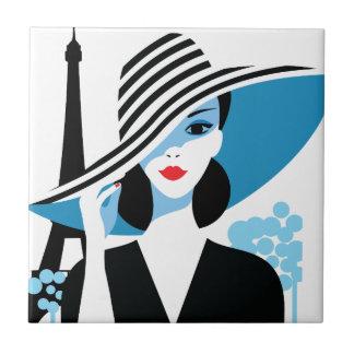 ファッションのフランスのでスタイリッシュなファッションの上品のイラストレーション タイル