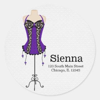 ファッションのランジェリー(紫色) ラウンドシール