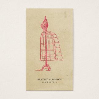 ファッションのヴィンテージの服の型枠のカッコいいのピンクの平野のシンプル 名刺