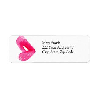ファッションの唇の上品の宛名ラベル ラベル