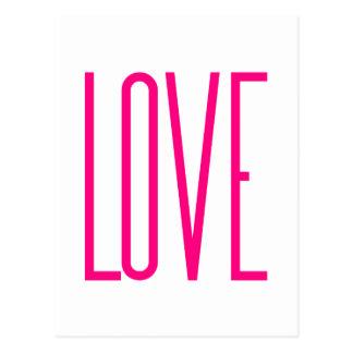 ファッションの明るいピンク愛 ポストカード