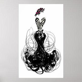 ファッションの花型女性歌手ポスター ポスター