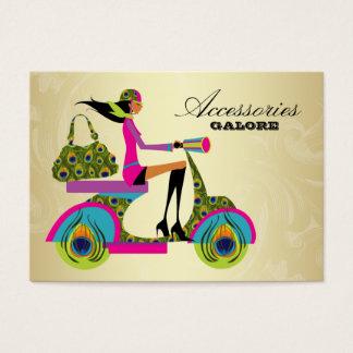 ファッションの財布の宝石類のスクーターの孔雀のシマウマGol 名刺